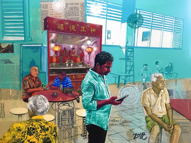 ZoyaChaudhary_ThinkingTamil,TalkingSinglish,EatingChinese_2017_MixedMedia_61cmx46cm(sm)